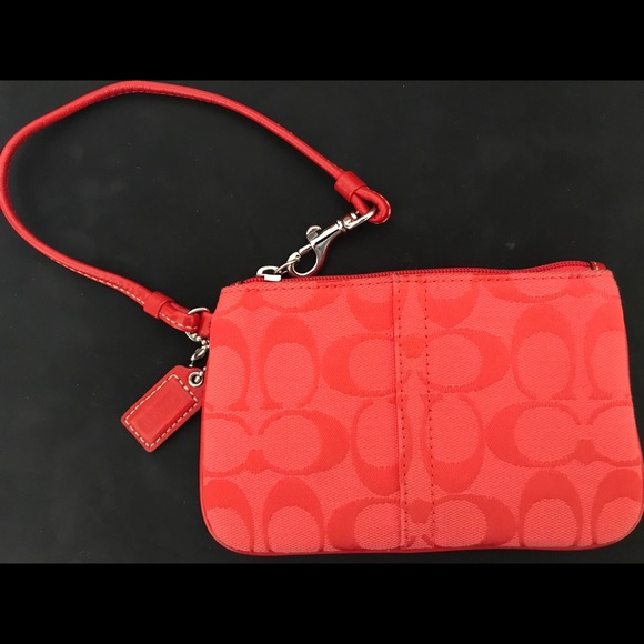 Coach Small Wristlet Red